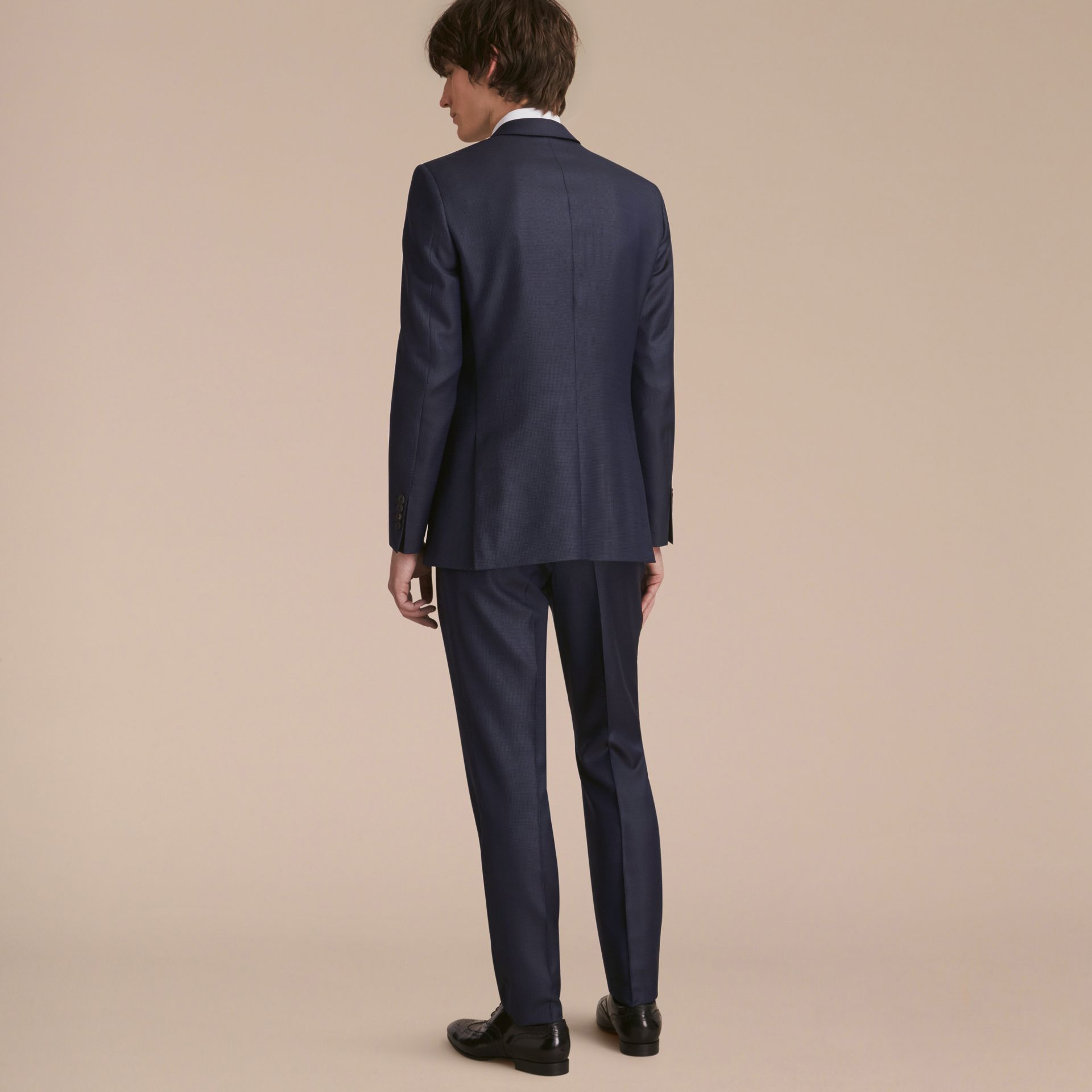 Modern Fit Wool Silk Part-canvas Suit - Men | Burberry - gallery image 3