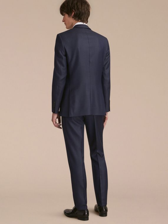 Modern Fit Wool Silk Part-canvas Suit - Men | Burberry - cell image 2