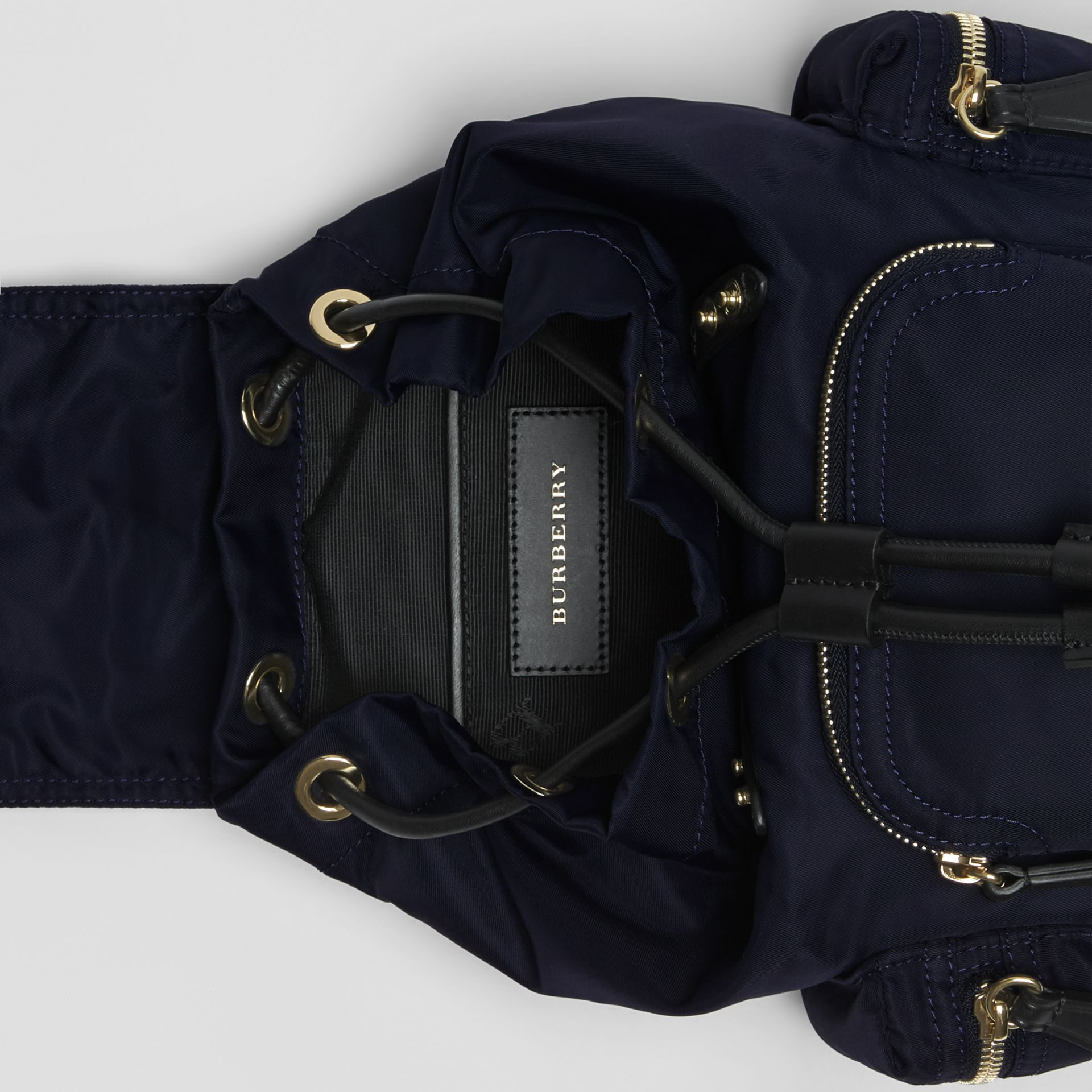The Small Crossbody Rucksack in Nylon in Ink Blue - Women | Burberry Hong Kong - gallery image 4