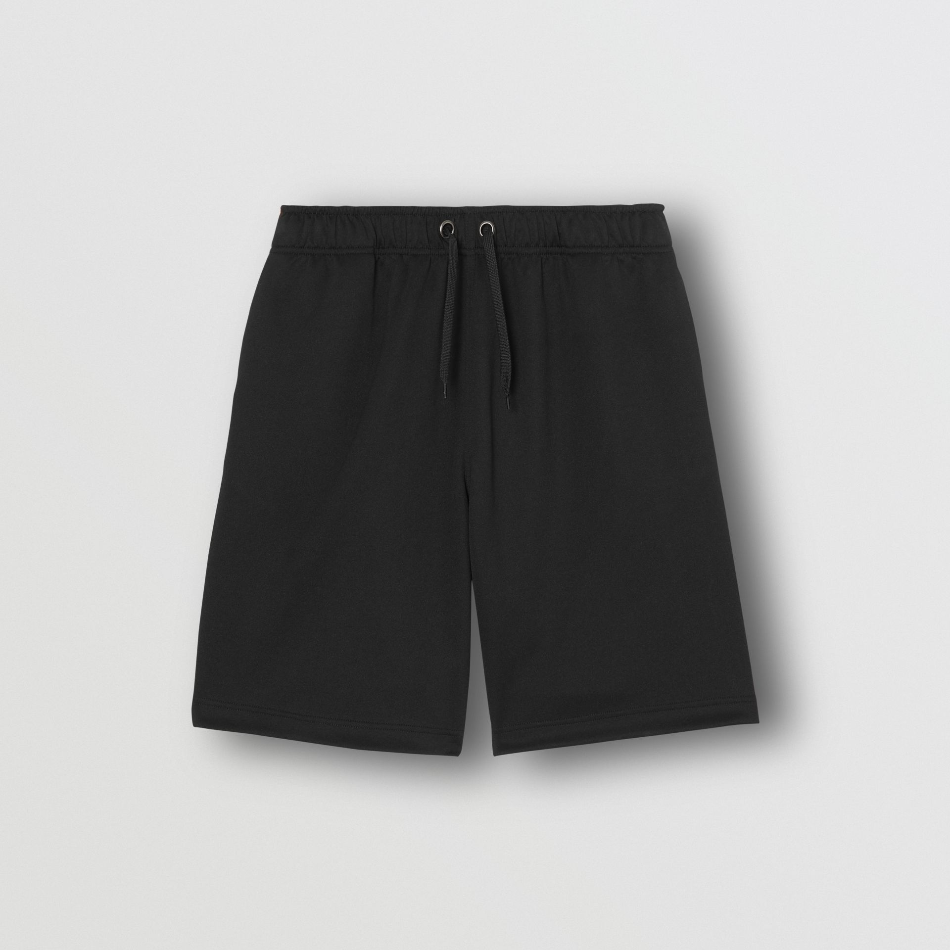 Icon Stripe Detail Cotton Blend Shorts in Black - Men | Burberry Singapore - gallery image 3