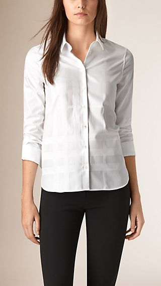 Check Jacquard Cotton Shirt