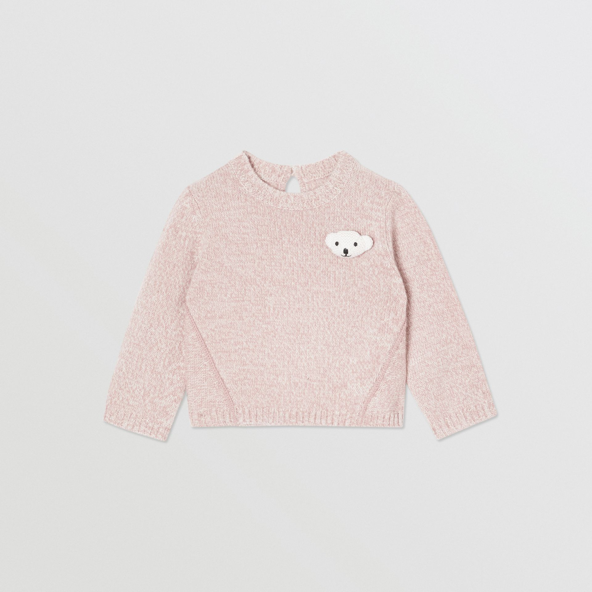Thomas Bear Detail Wool Cashmere Sweater in Light Pink - Children | Burberry - gallery image 0
