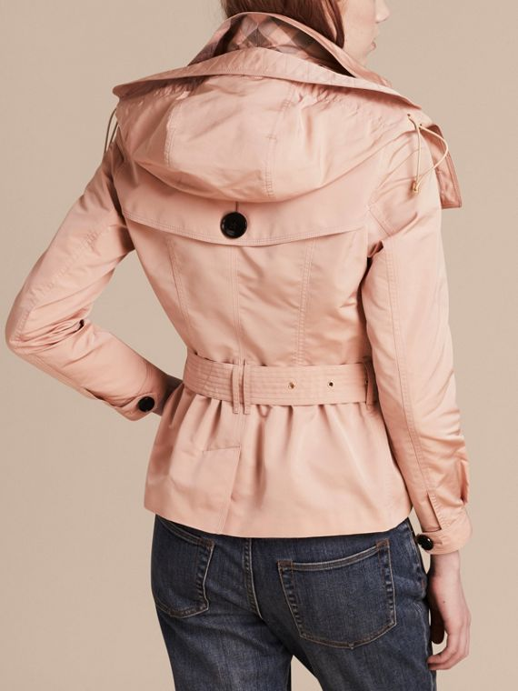 Chalk pink Showerproof Taffeta Trench Jacket with Detachable Hood Chalk Pink - cell image 2