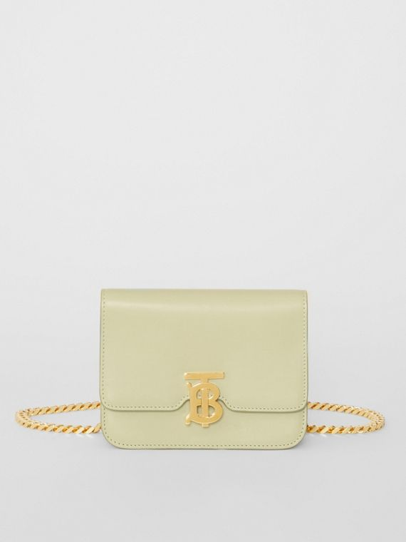 Belted Leather TB Bag in Pale Sage