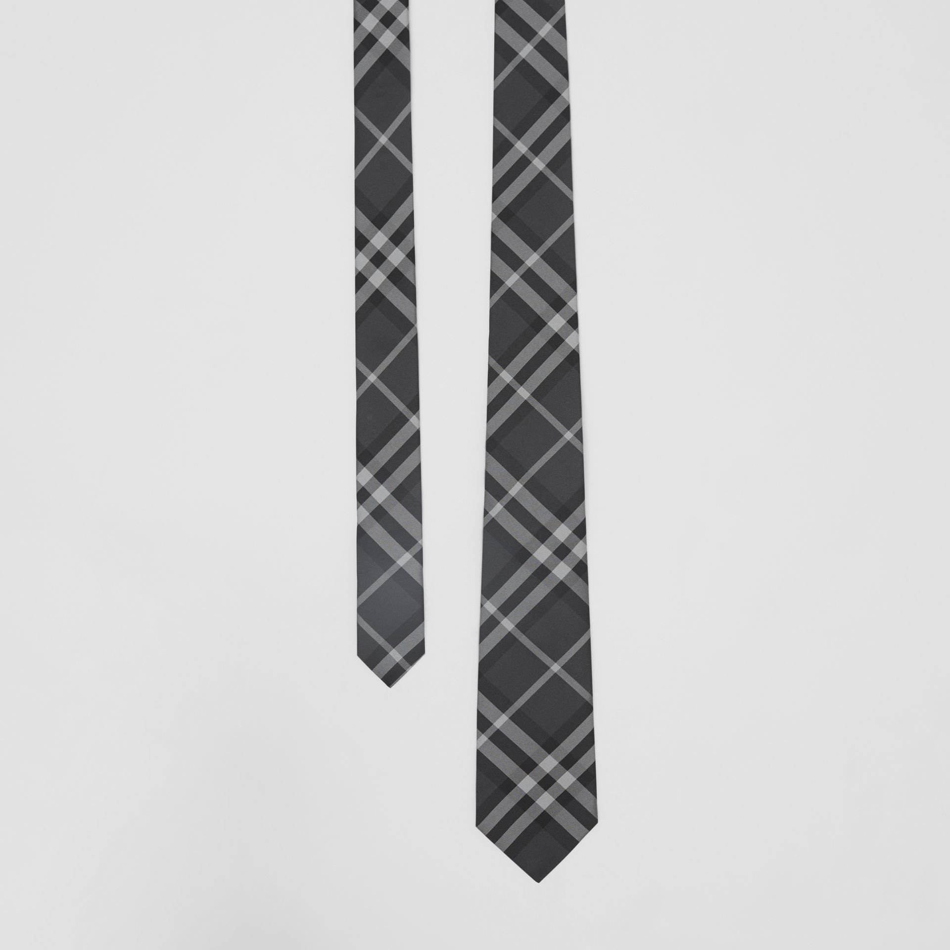 Classic Cut Vintage Check Silk Tie in Charcoal - Men | Burberry - gallery image 0