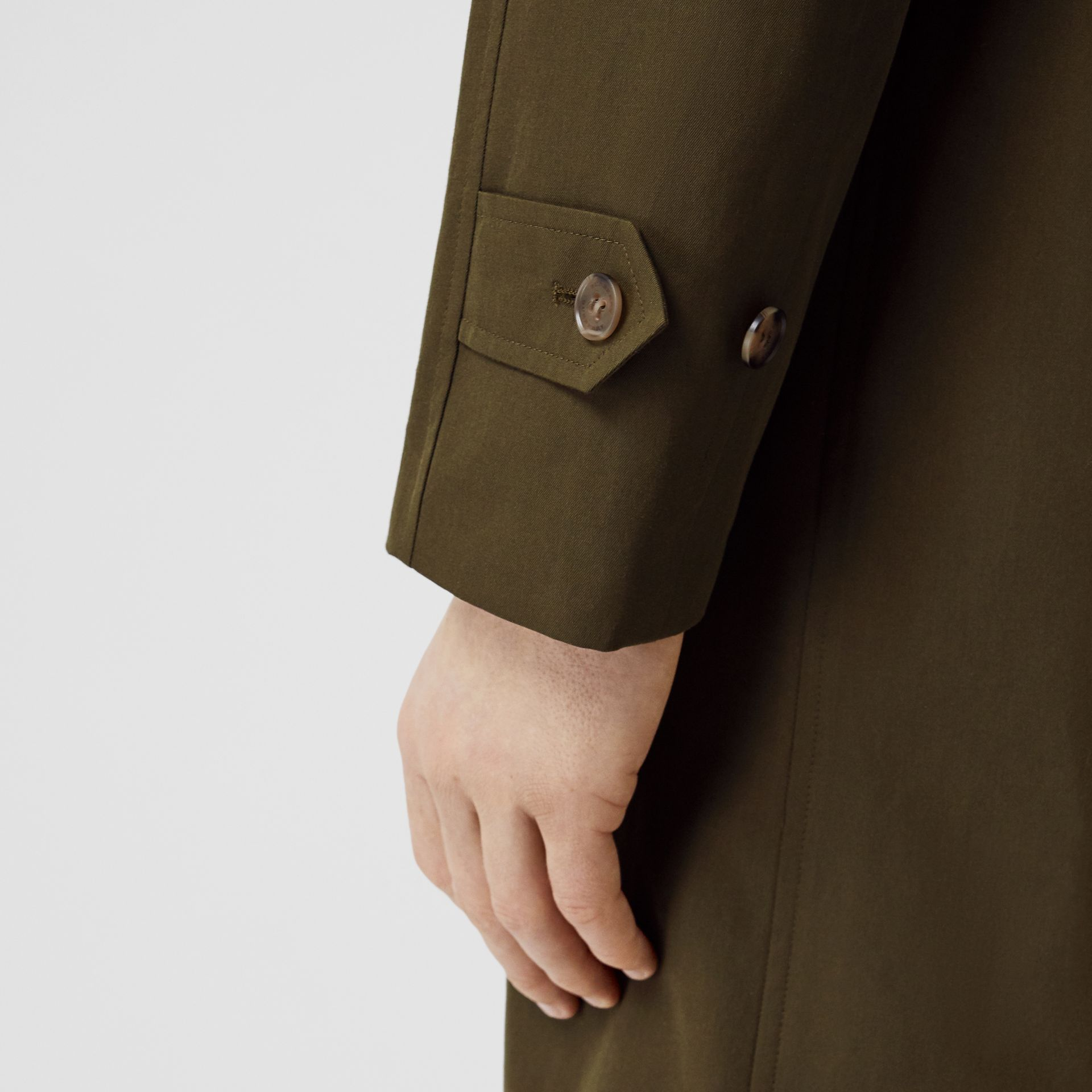 The Camden Car Coat in Dark Military Khaki - Men | Burberry Australia - gallery image 4