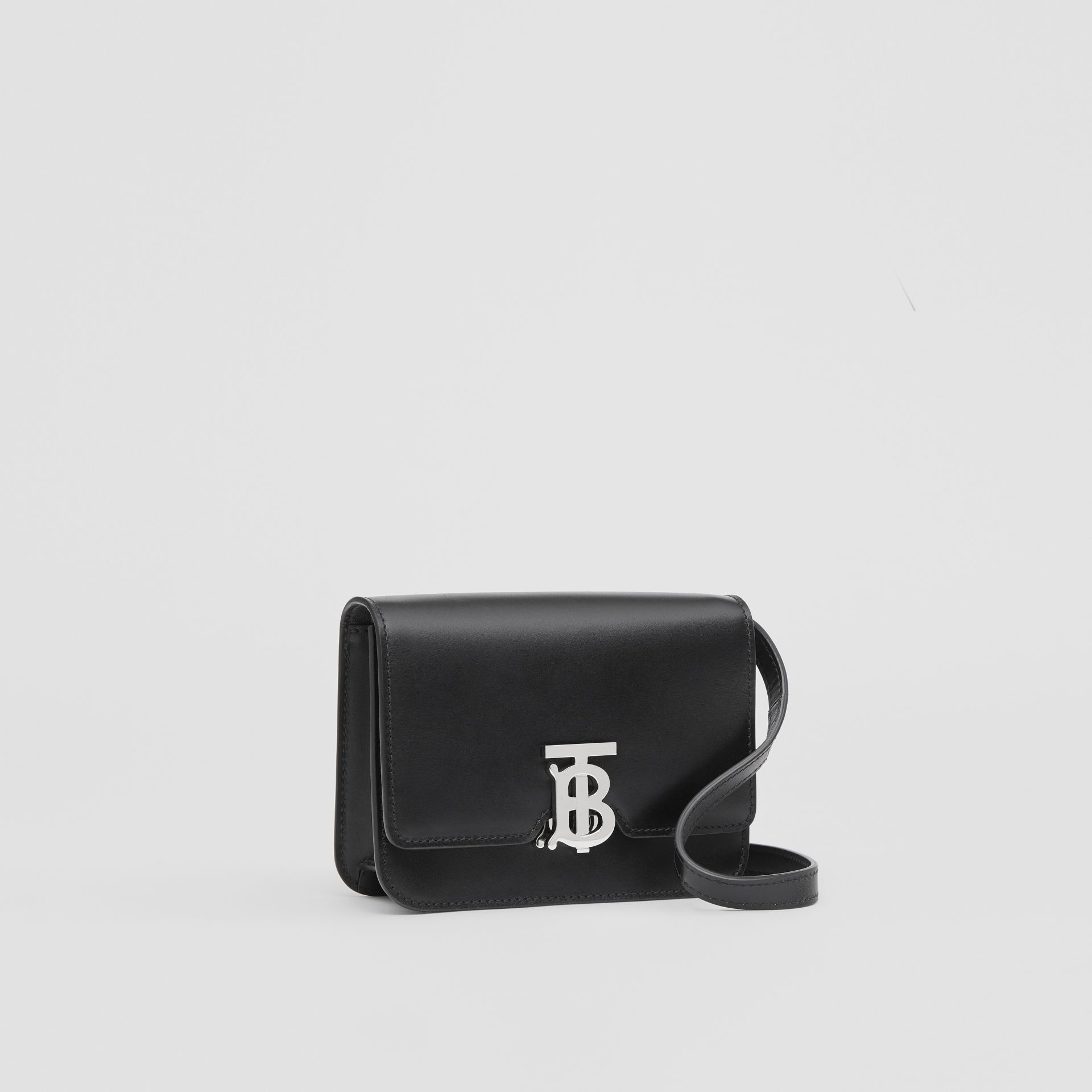 Mini Leather TB Bag in Black - Women | Burberry - gallery image 6