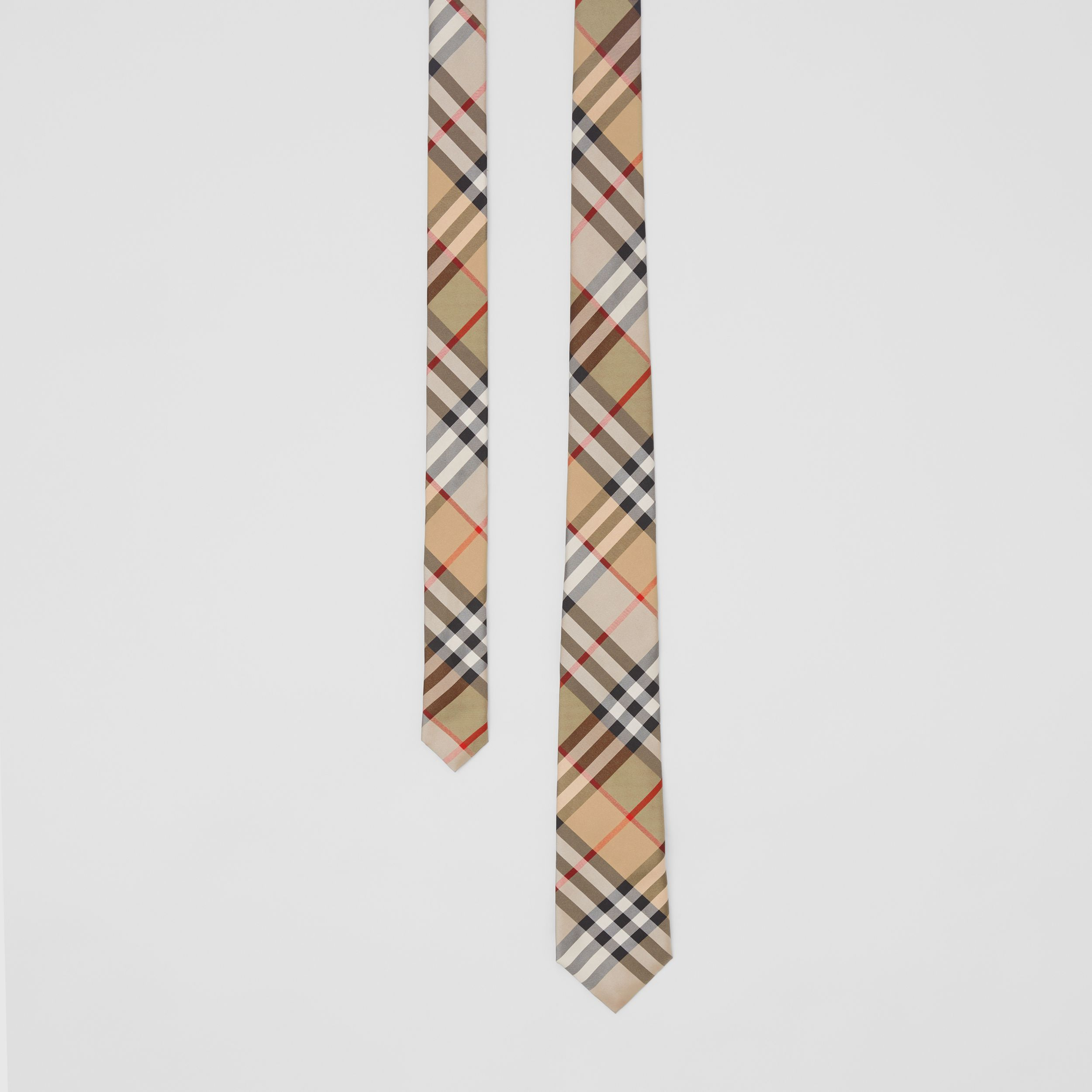 Classic Cut Vintage Check Silk Twill Tie in Archive Beige - Men | Burberry - 1