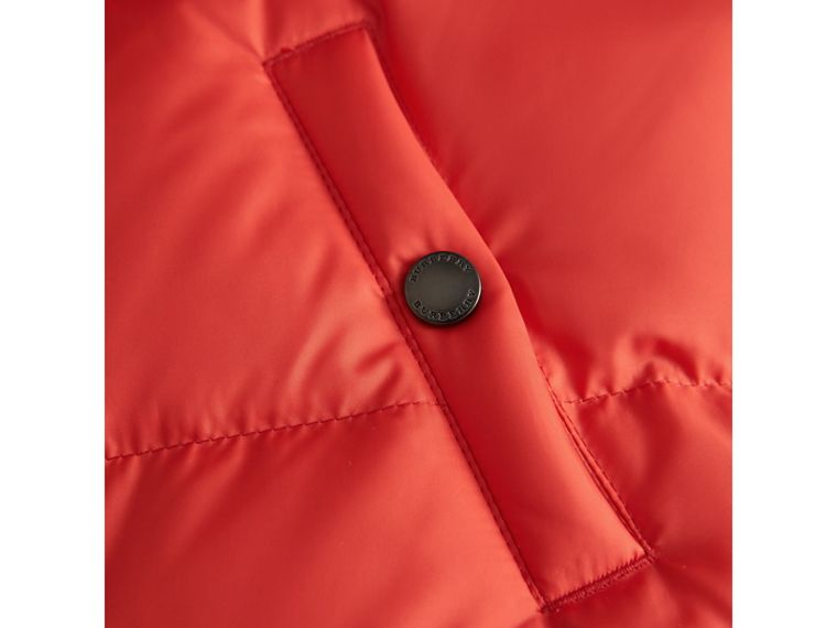 Down-filled Hooded Gilet in Bright Orange Red - Boy | Burberry United Kingdom - cell image 1