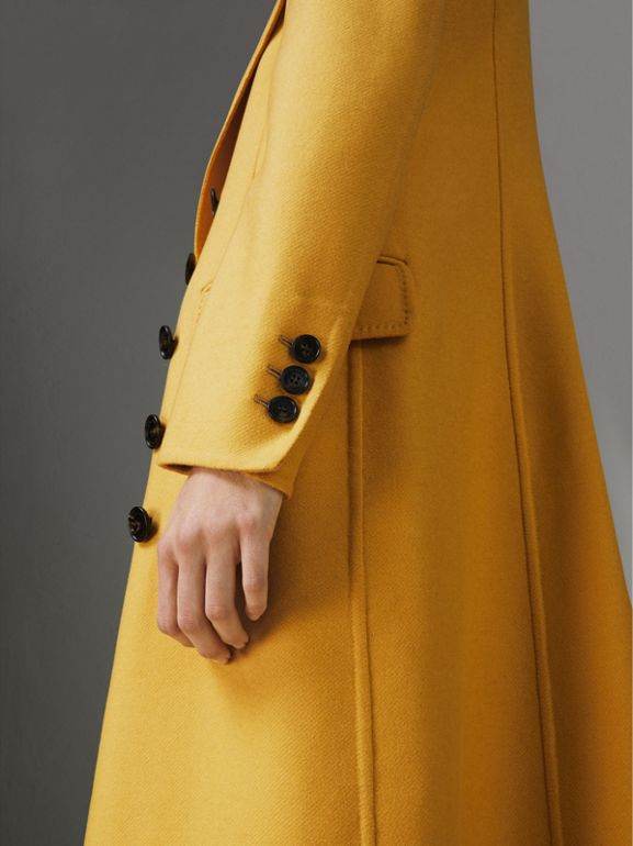 Double-breasted Cashmere Tailored Coat in Ochre Yellow - Women | Burberry Hong Kong - cell image 1
