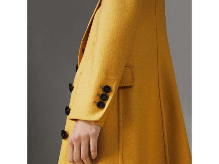 Double-breasted Cashmere Tailored Coat in Ochre Yellow - Women | Burberry - cell image 1