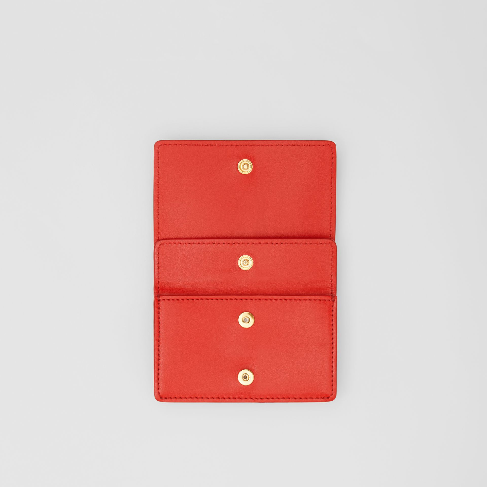 Grainy Leather Card Case with Detachable Strap in Bright Red - Women | Burberry Canada - gallery image 8