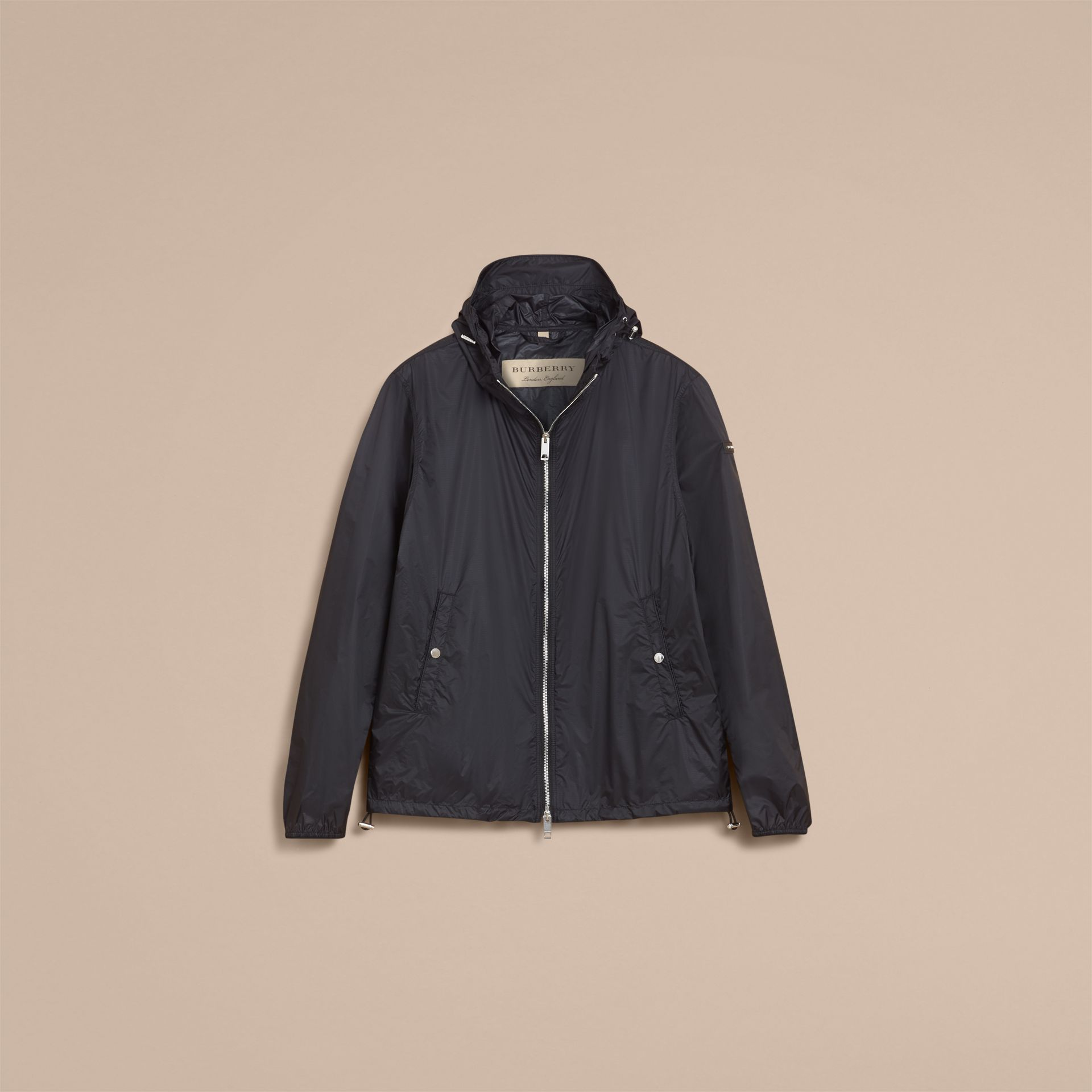 Hooded Super-lightweight Jacket Navy - gallery image 4