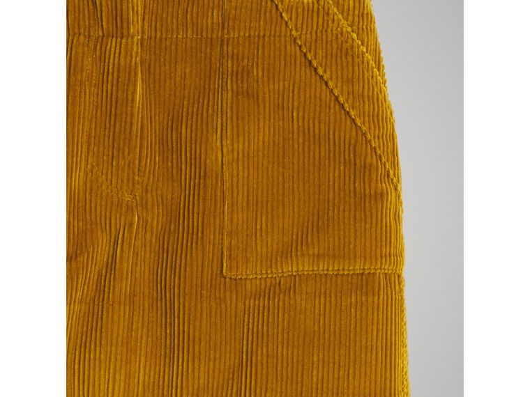 Corduroy A-line Skirt in Ochre - Girl | Burberry Singapore - cell image 4