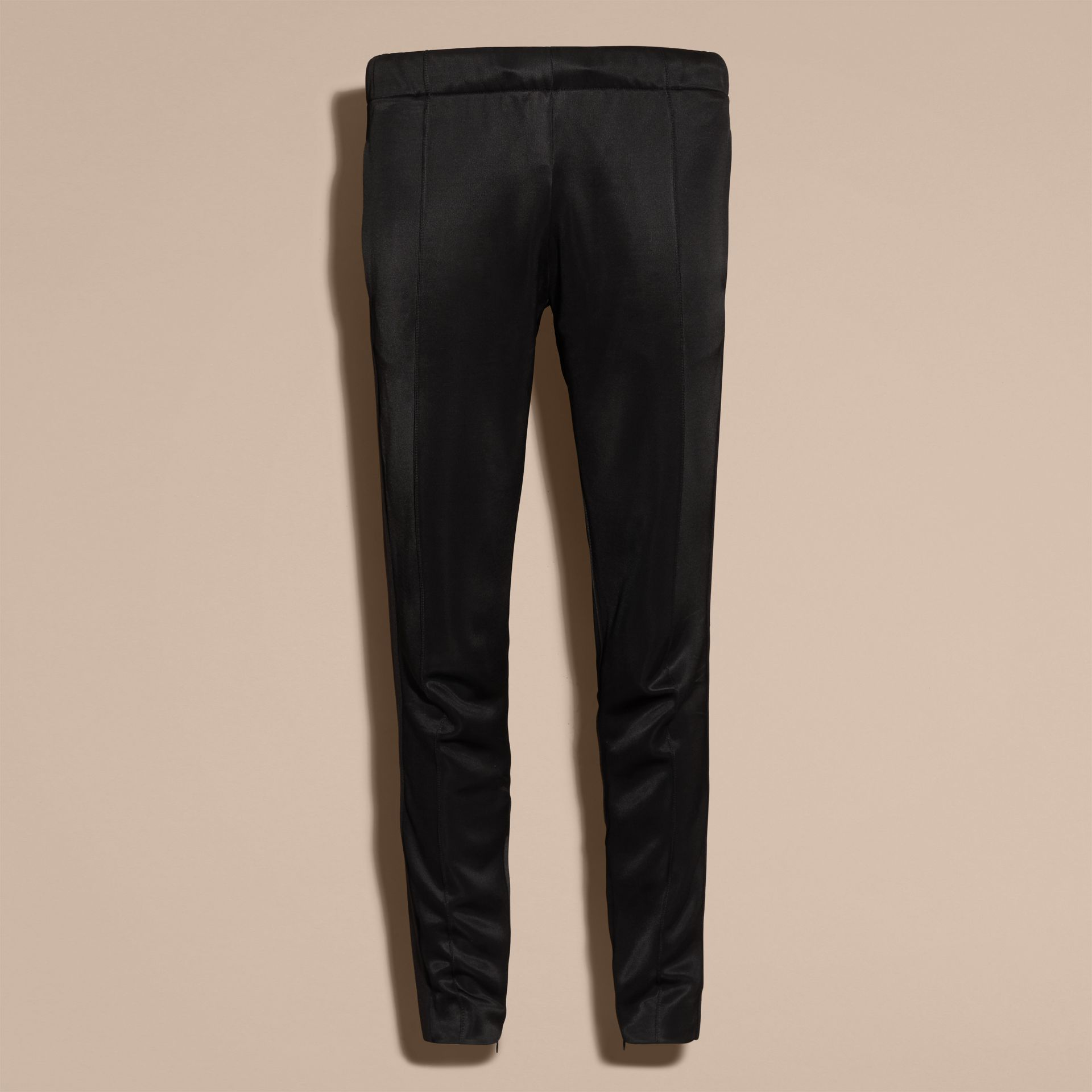 Black High-shine Track Pants Black - gallery image 4