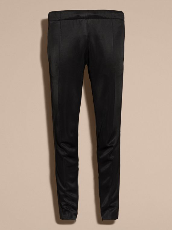 Black High-shine Track Pants Black - cell image 3