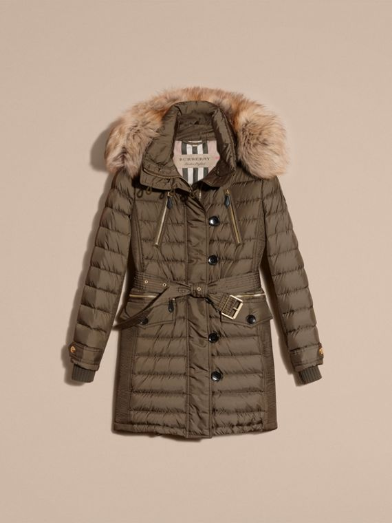 Mink grey Down-filled Parka with Fur Trim Mink Grey - cell image 3