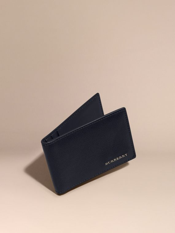 London Leather ID Wallet Dark Navy