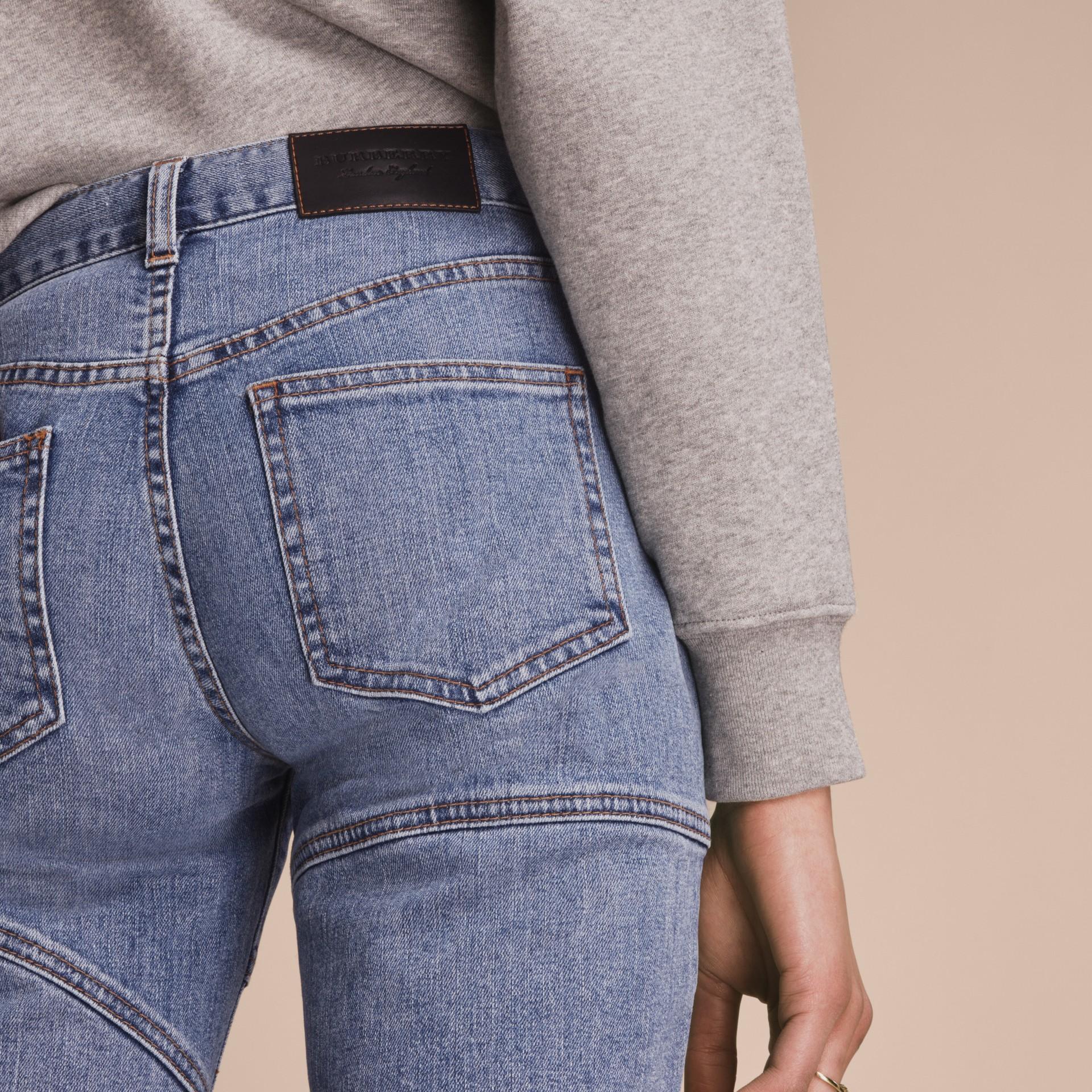 Slim Fit Seam Detail Japanese Denim Jeans - gallery image 6