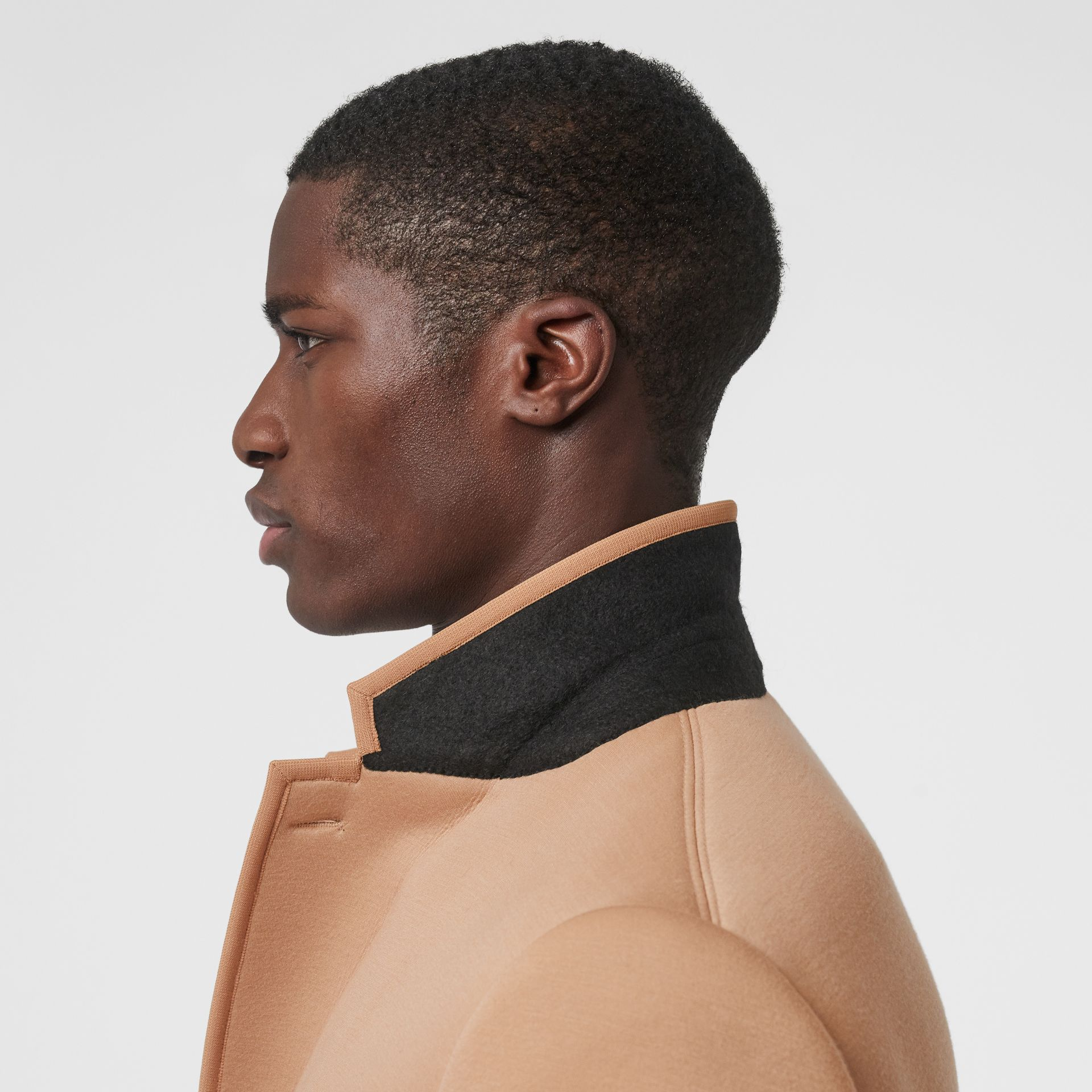 Neoprene Tailored Coat in Beige | Burberry - gallery image 5