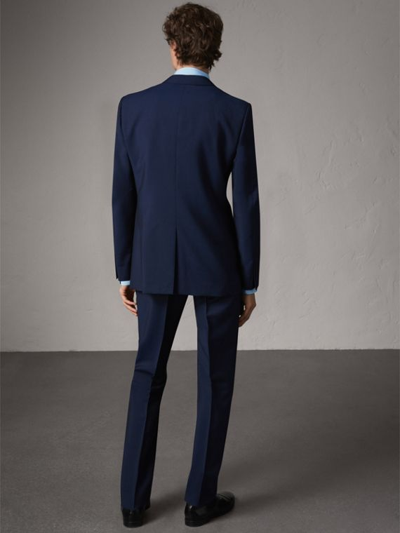 Modern Fit Wool Mohair Suit in Royal Navy - Men | Burberry - cell image 2
