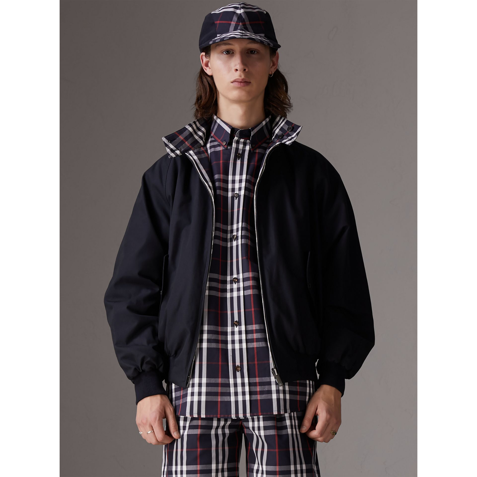 Gosha x Burberry Reversible Harrington Jacket in Navy | Burberry United Kingdom - gallery image 5