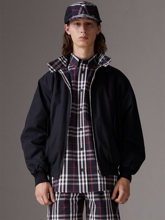 Gosha + Burberry - Giacca Harrington reversibile (Navy)