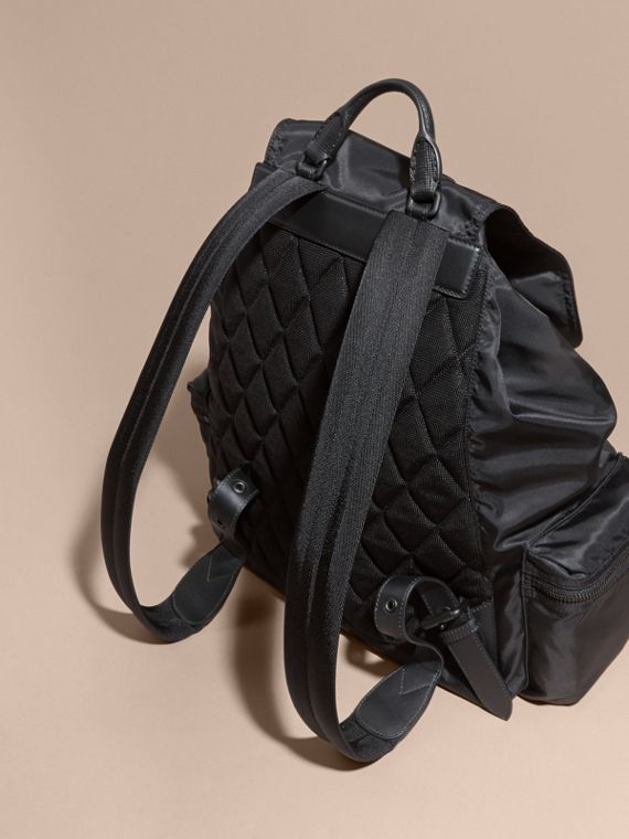 The Extra Large Rucksack in Technical Nylon and Leather - cell image 2