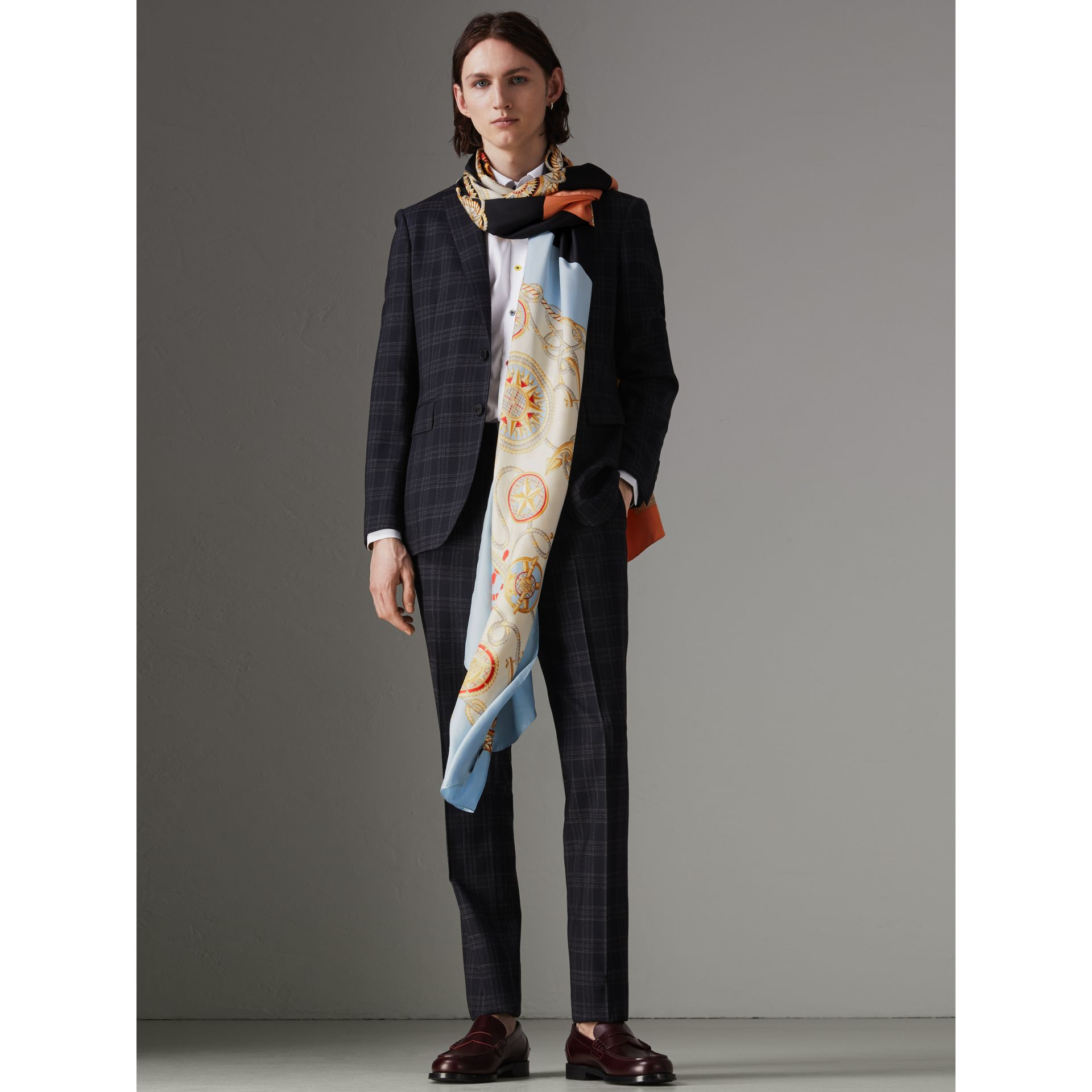 Archive Scarf Print Silk Oversized Scarf in Multicolour - Women | Burberry United Kingdom - gallery image 3