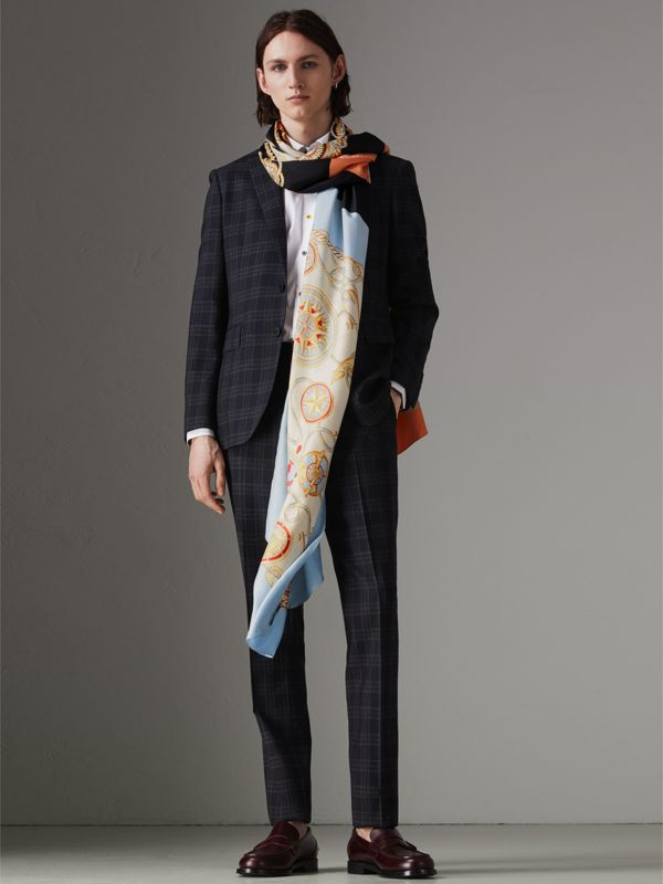 Archive Scarf Print Silk Oversized Scarf in Multicolour | Burberry - cell image 3