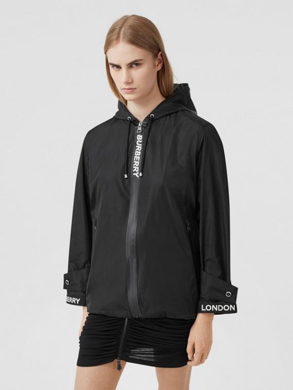 Logo Tape ECONYL® Hooded Jacket in Black
