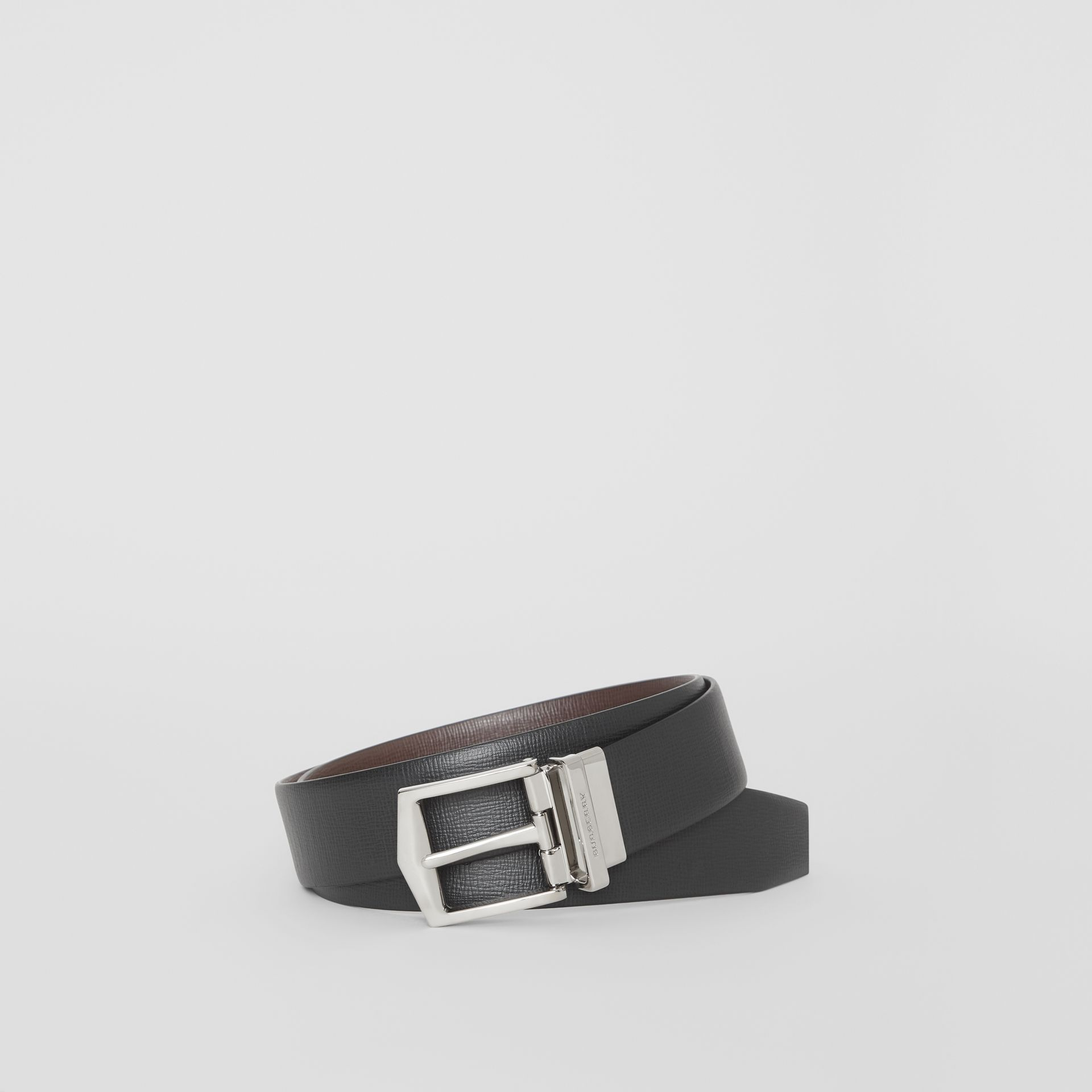 Reversible London Leather Belt in Black/chocolate - Men | Burberry - gallery image 0