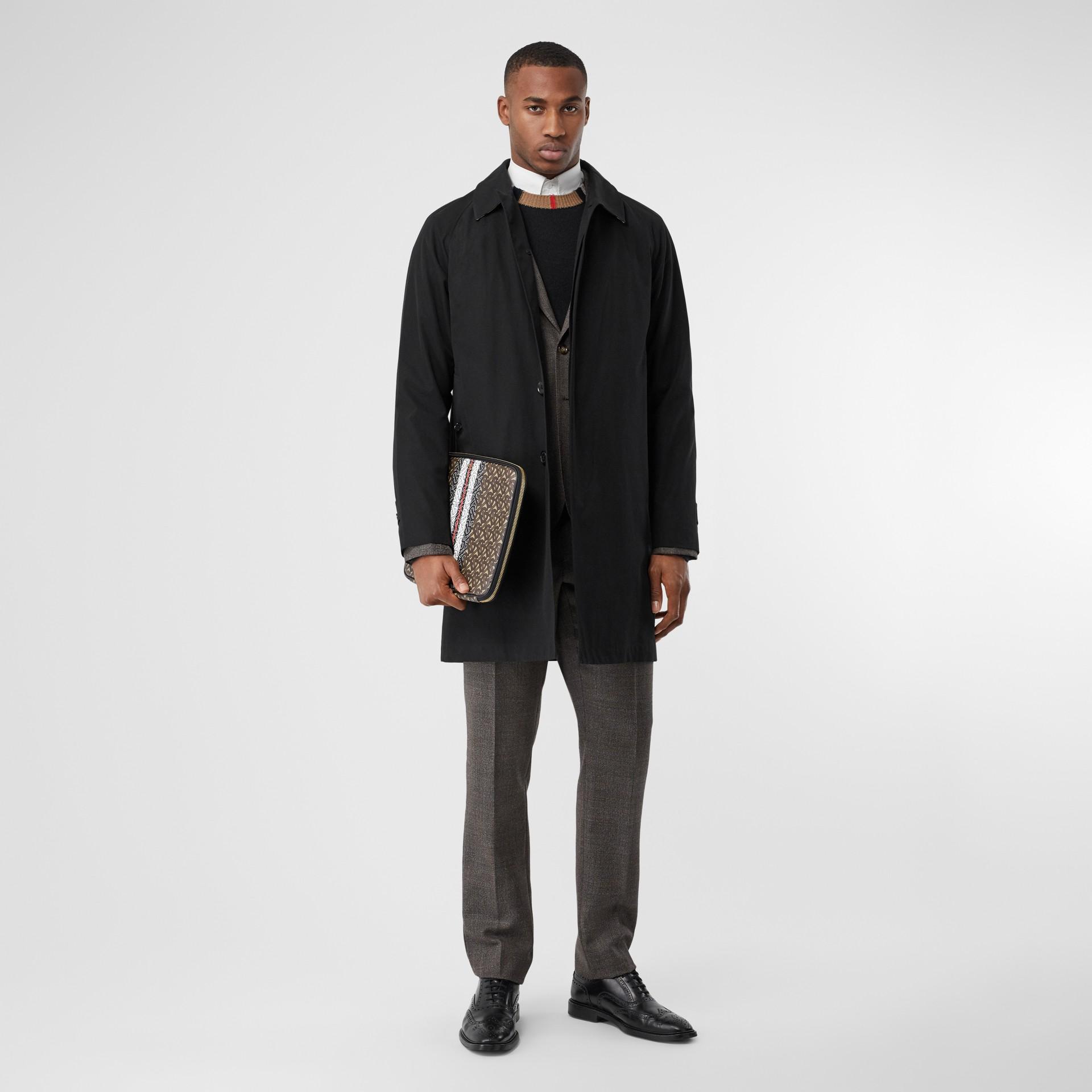 캠던 카 코트 (블랙) - 남성 | Burberry - 갤러리 이미지 0