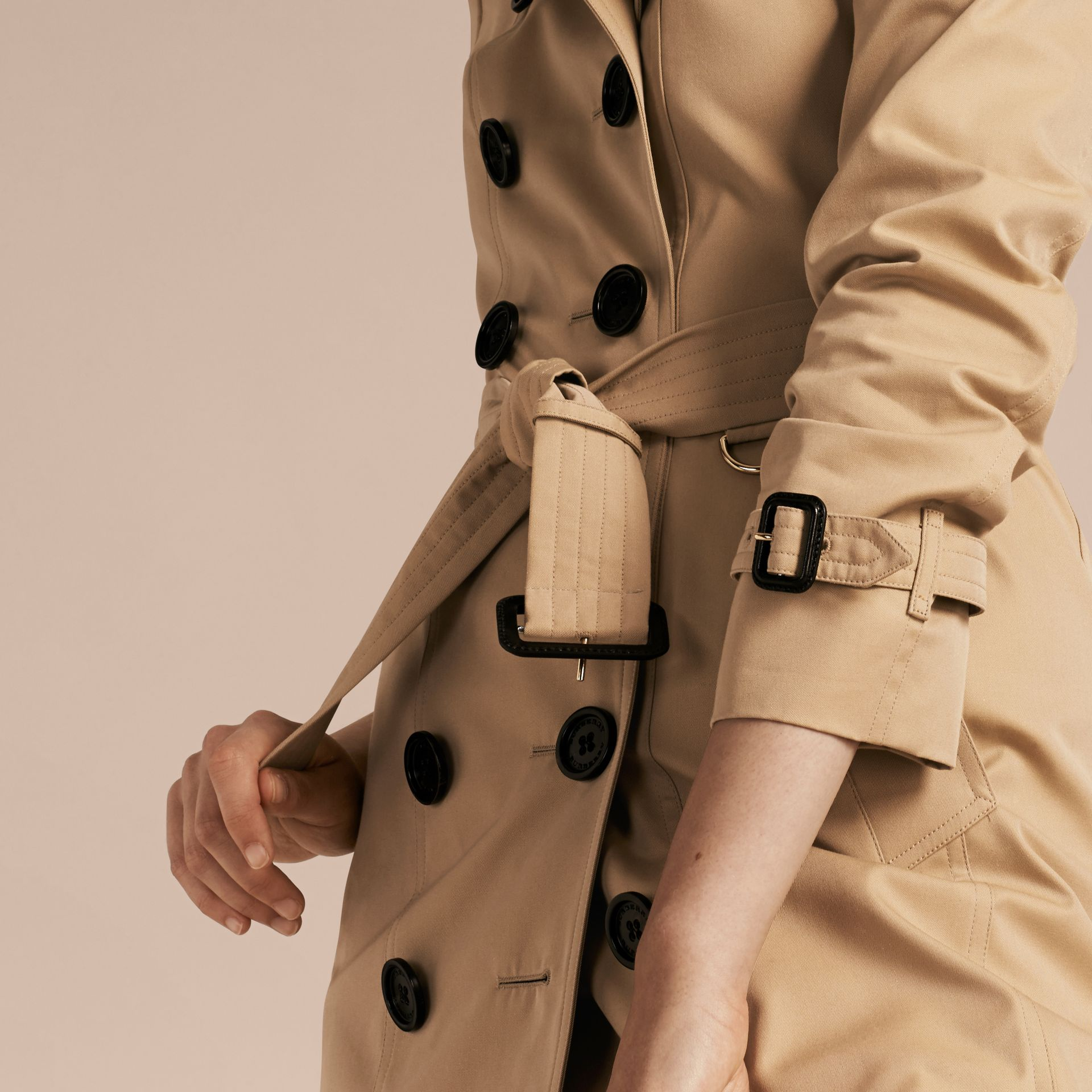 Honey Trench Coat with Check and Heart Lining - gallery image 6