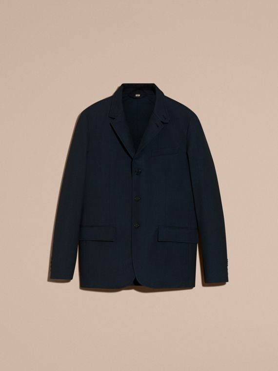 Storm blue Modern Fit Down-filled Tailored Wool Jacket - cell image 3