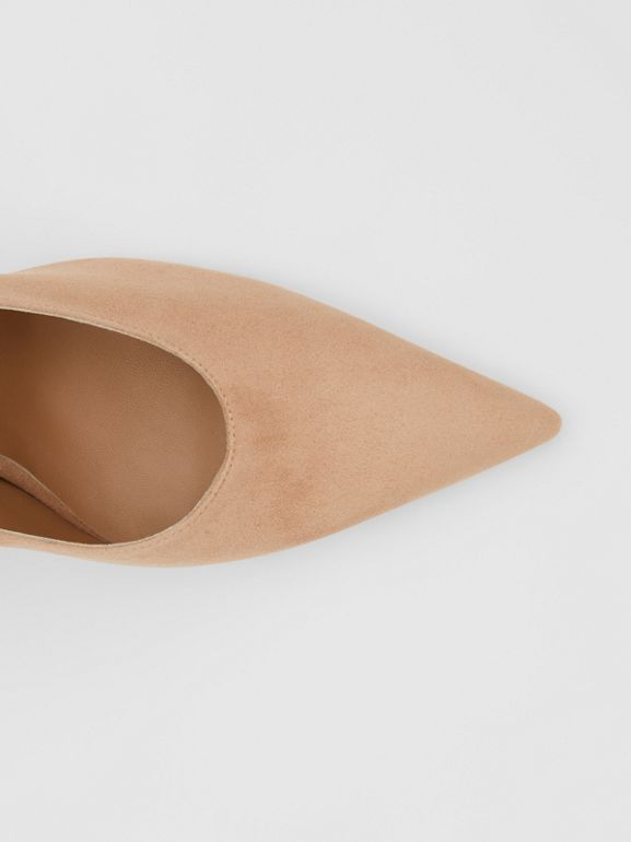 Suede Point-toe Pumps in Warm Camel - Women | Burberry United Kingdom - cell image 1