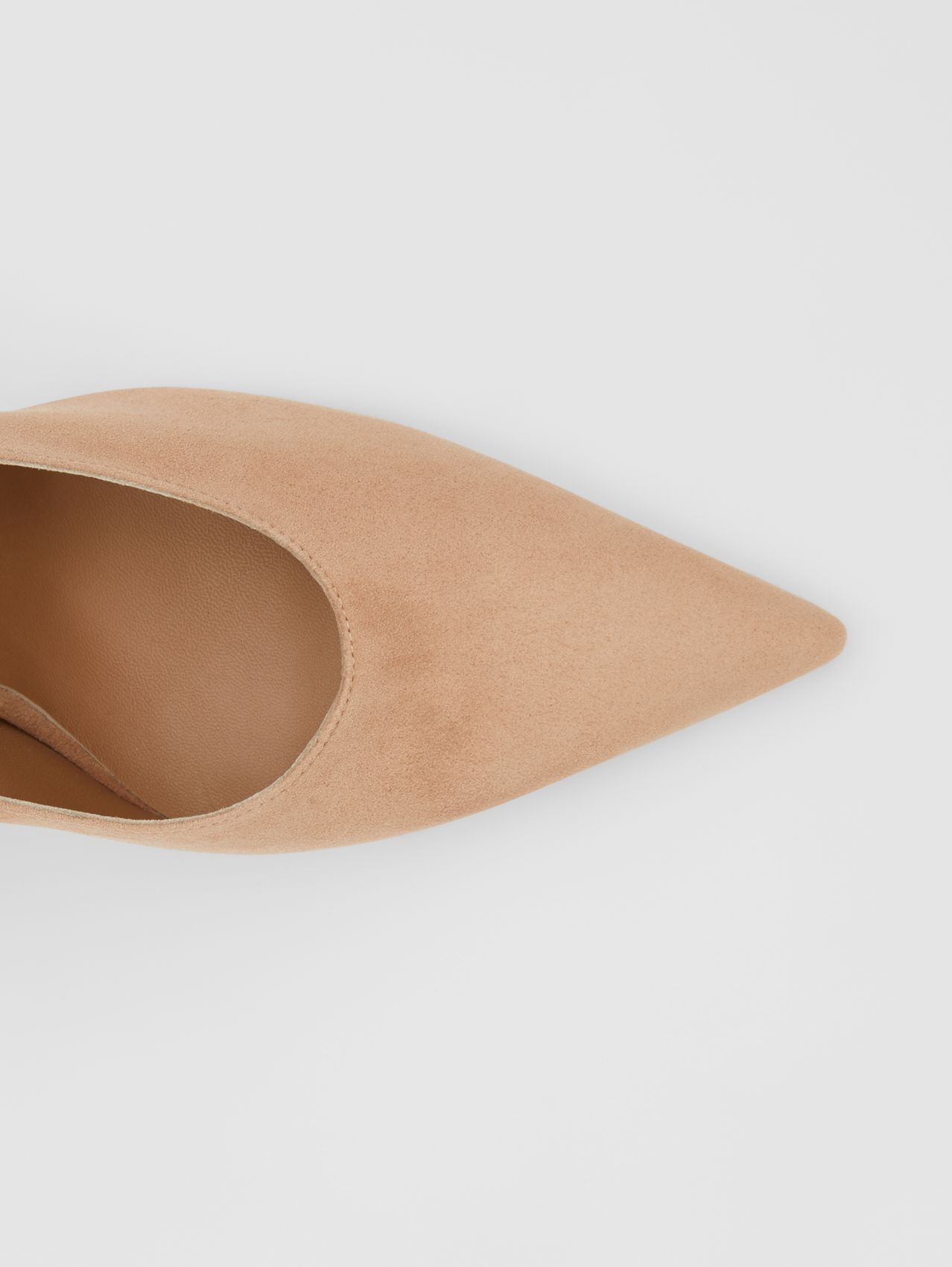 Suede Point-toe Pumps (Warm Camel)