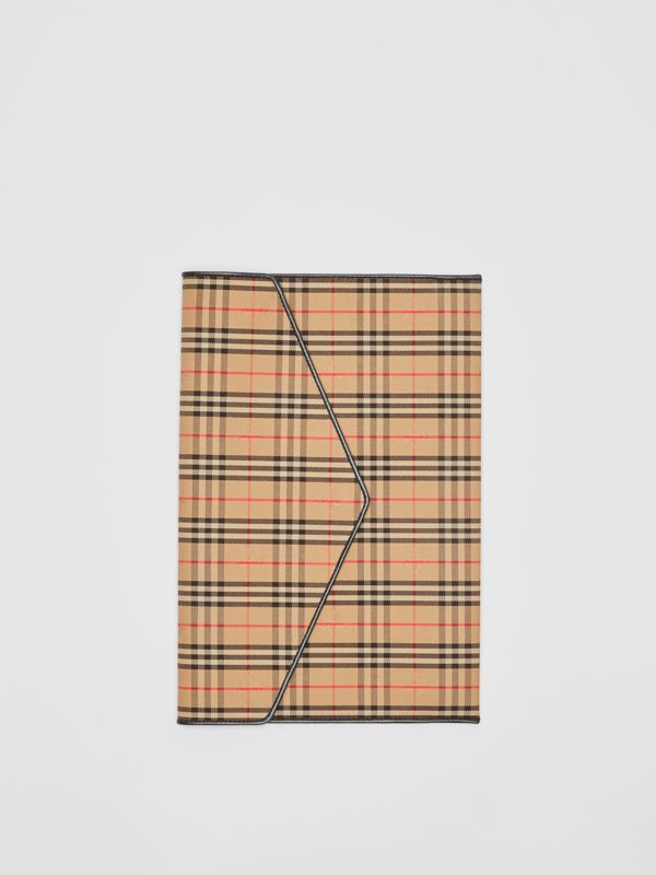 Large 1983 Check Envelope Pouch in Black - Women | Burberry Australia - cell image 2