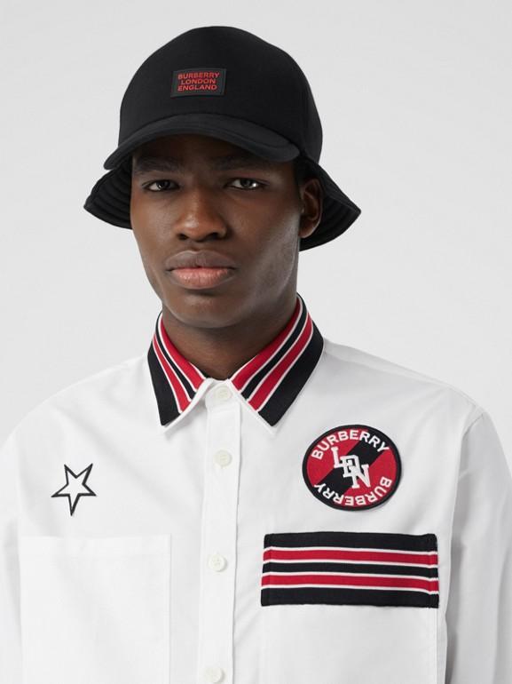 Camicia Oxford oversize in cotone con logo (Bianco) - Uomo | Burberry - cell image 1