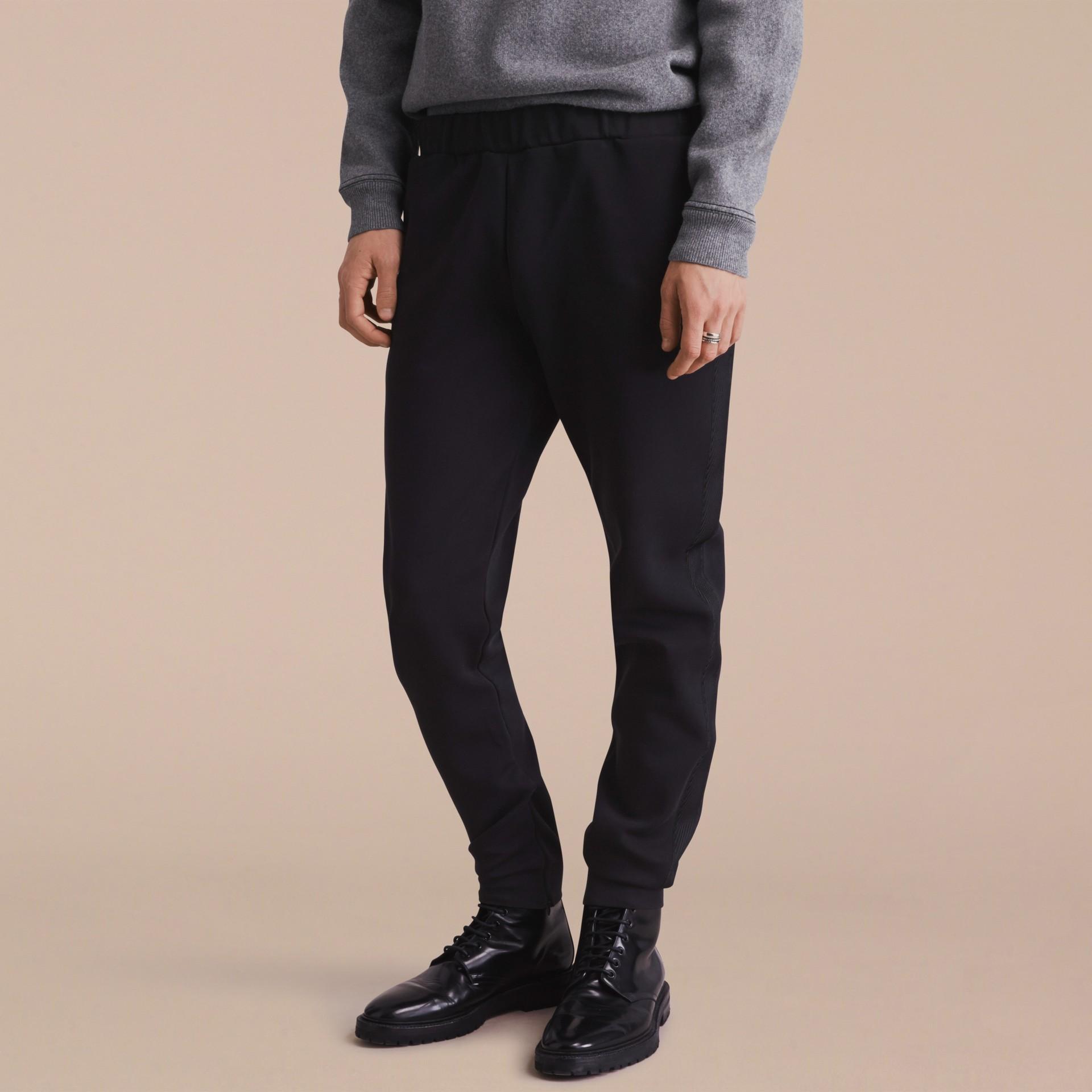 Cotton Blend Knit Sweat Pants - gallery image 6