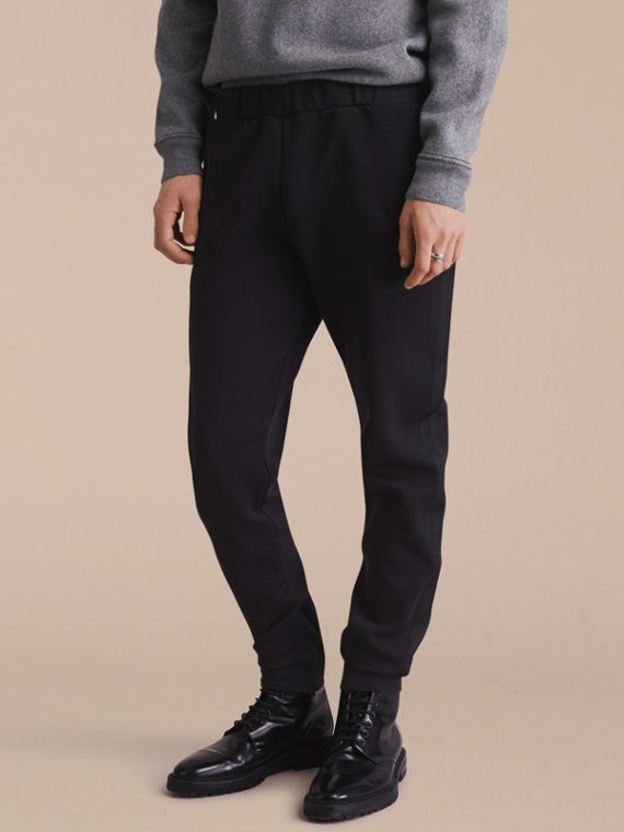 Cotton Blend Knit Sweat Pants