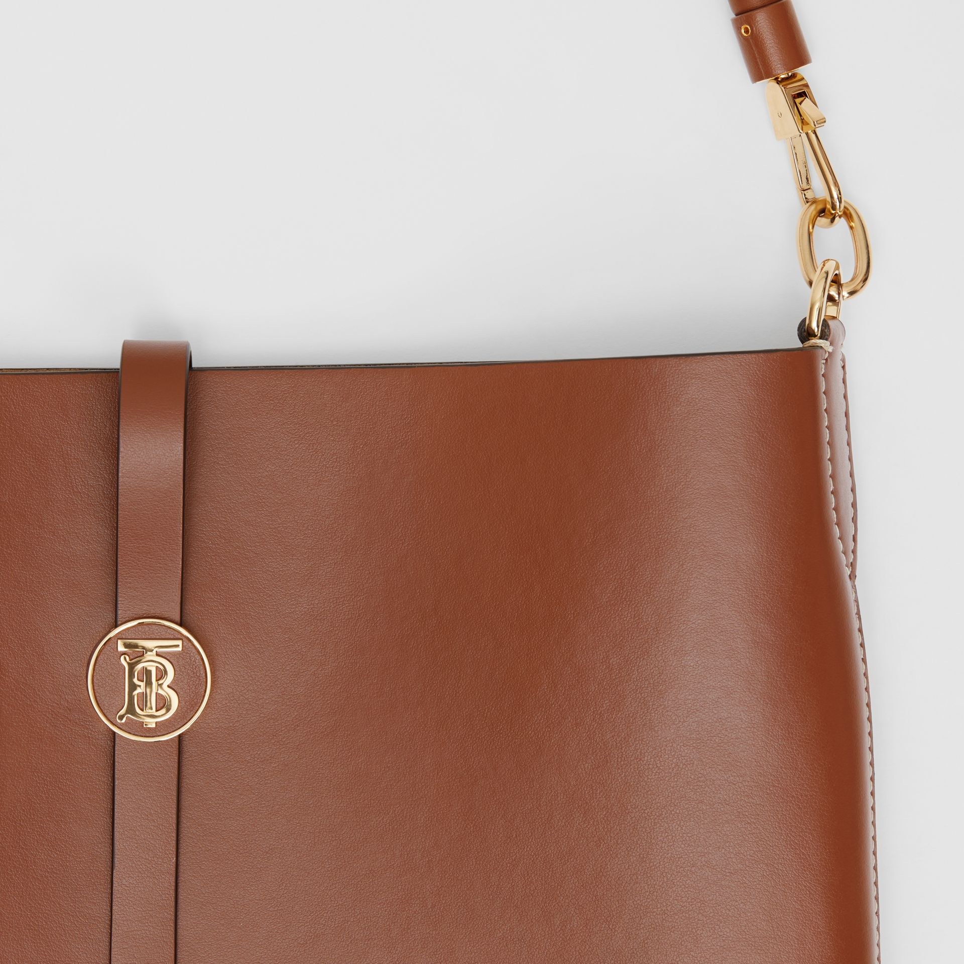 Leather Anne Bag in Tan - Women | Burberry Australia - gallery image 1
