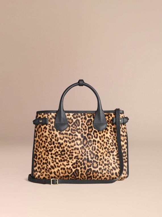 The Medium Banner in Animal Print Calfskin - cell image 2