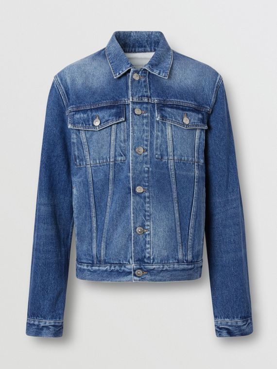 Washed Denim Jacket in Indigo Blue