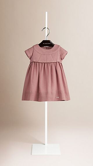 Quilt-Panelled Cotton Dress