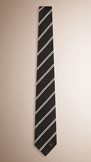 Modern Cut Striped Silk Tie