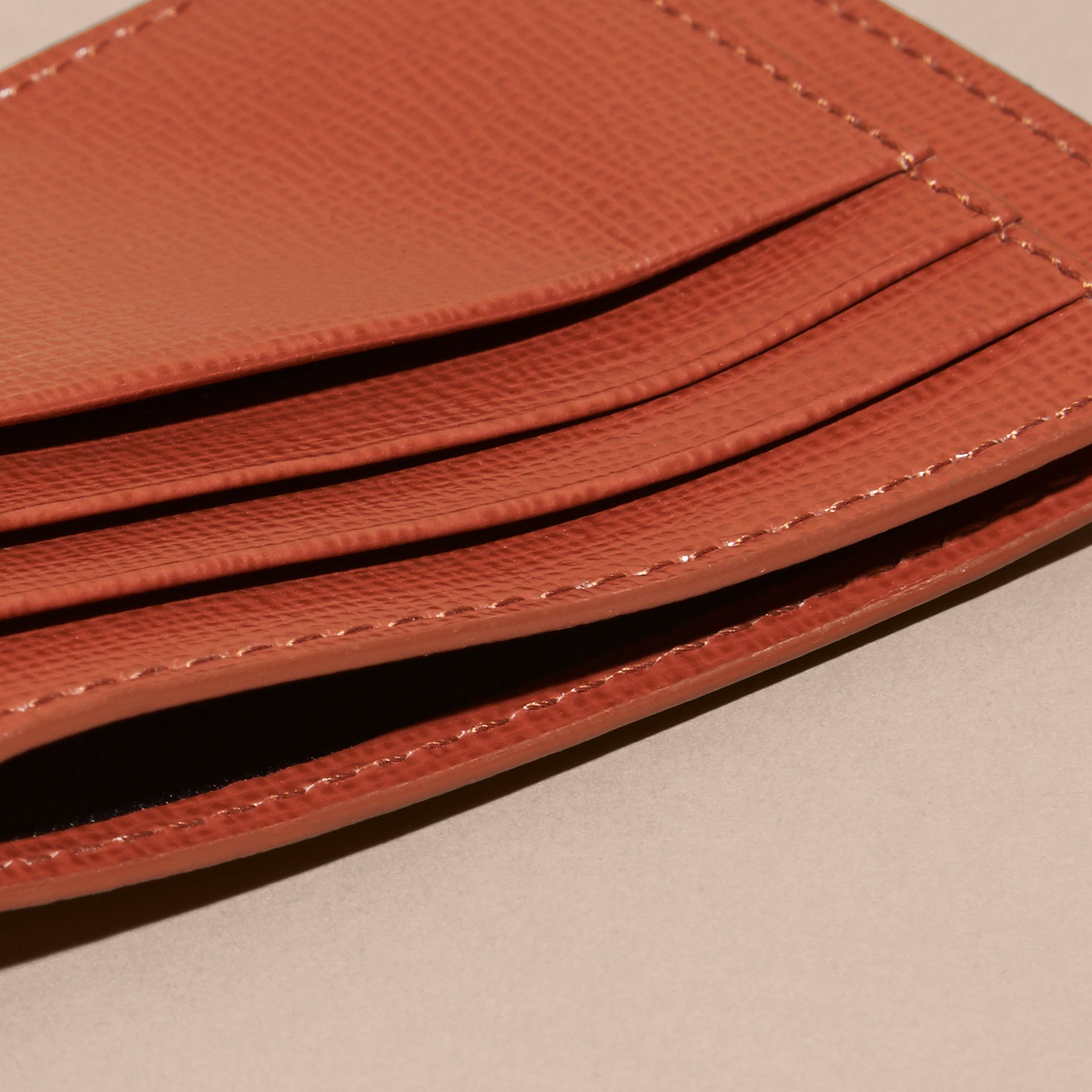 London Leather Card Case in Burnt Sienna - gallery image 4