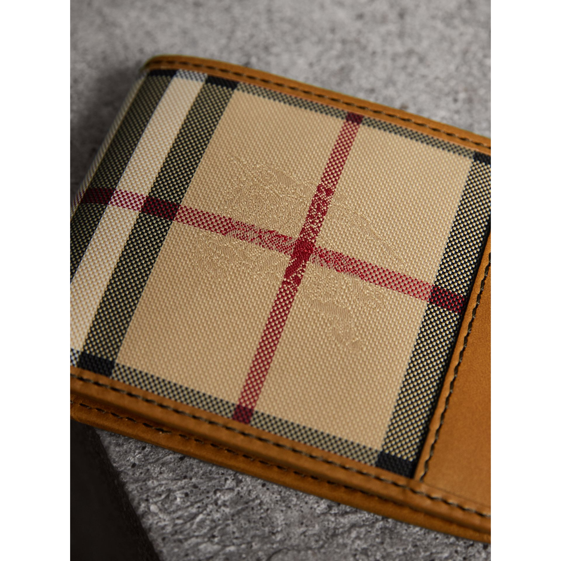 Horseferry Check Bifold Wallet in Tan - Men | Burberry United States - gallery image 1