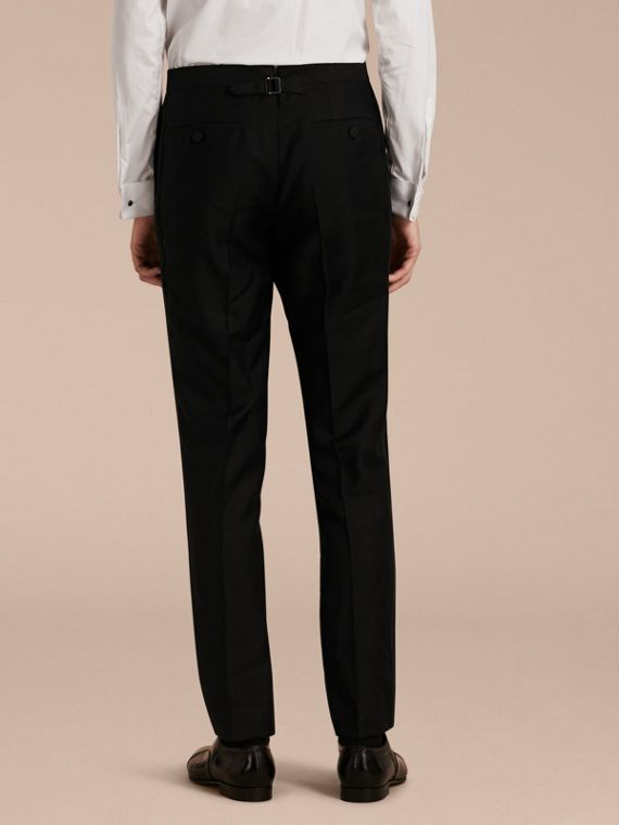 Modern Fit Wool Mohair Tuxedo Trousers in Black - Men | Burberry - cell image 2