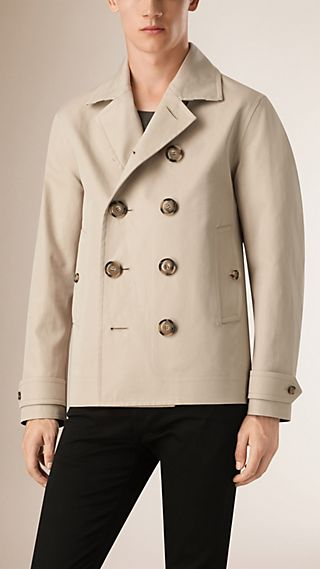 Bonded Cotton Pea Coat